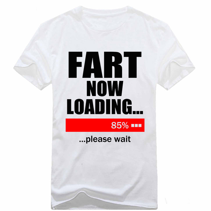 New Men T Shirts Fart Loading 85% Funny Tshirt Pub Jokes ...