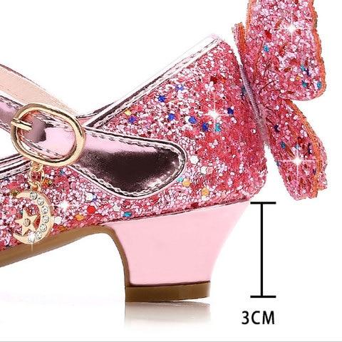 sandalias para criancas glitter borboleta festa de