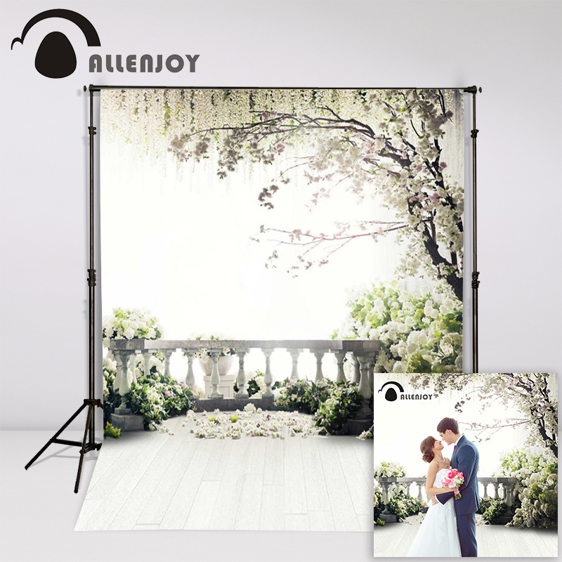 Allenjoy 300x200cm (6.5ftx10ft) Flowers Photo Background trees garden loft wedding Photography backdrops Studio Interior Photos