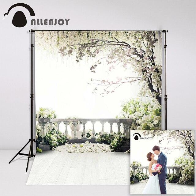 Allenjoy 300x200cm (6.5ftx10ft) Flowers Photo Background trees garden loft wedding Photography backdrops Studio Interior Photos