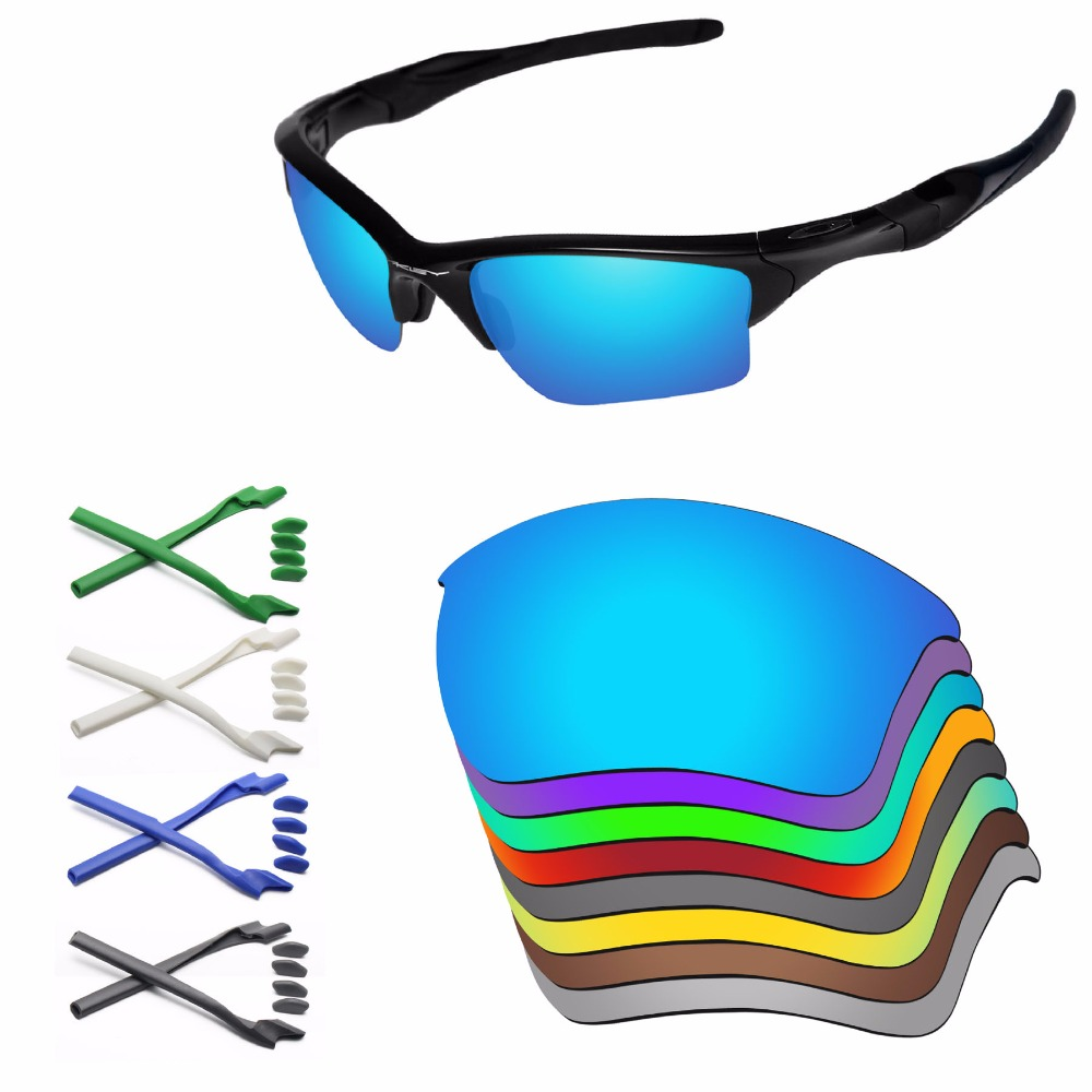 PapaViva Replacement Lenses and Rubber Kit for Authentic Half Jacket 2.0 XL Sunglasses Frame   Multiple Options-in Eyewear Accessories from Apparel Accessories