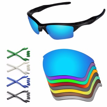 PapaViva Replacement Lenses and Rubber Kit for Authentic Half Jacket 2.0 XL Sunglasses Frame - Multiple Options papaviva polycarbonate polarized replacement lenses for jawbone vented sunglasses multiple options