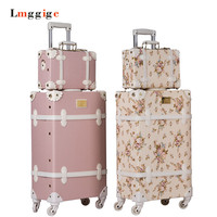 Vintage Luggage bag,PU Leather Suitcase Travel box,Women universal wheel Carrier,high qualit Carry Ons 20222426inch Trolley
