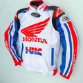 2016 new white Honda summer breathable mesh racing suit with removable 5 protection protective gear motorcycle jacket