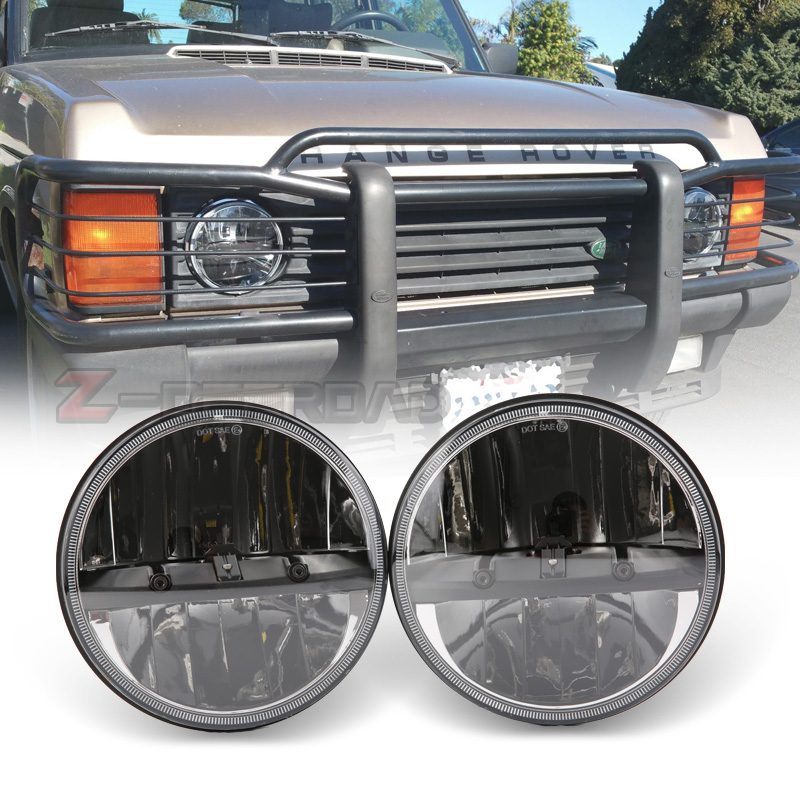 30W IP67 7inch headlights LED H4 high&low beam headlamps with H4 to H13 adapter projector light lamps for Land Rover Defender30W IP67 7inch headlights LED H4 high&low beam headlamps with H4 to H13 adapter projector light lamps for Land Rover Defender