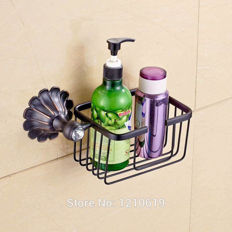 Newly Euro Style Bathroom Commodity Holder Paper Holder Oil Rubbed Bronze Cosmetic Storage Rack Bath Shelf newly jade toothbrush holder rack oil rubbed bronze dual cup