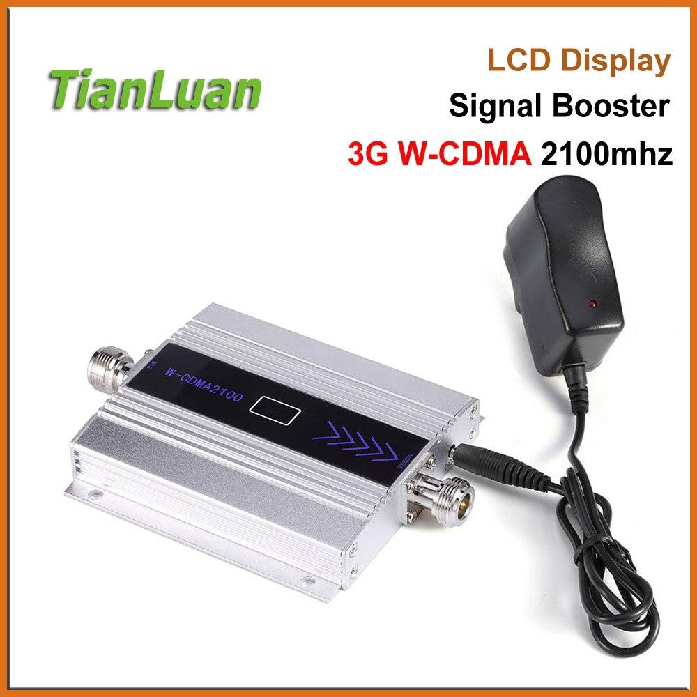 TianLuan Mini W-CDMA señal Booster 2100 MHz 3G repetidor de señal WCDMA UMTS 3G teléfono celular amplificador de señal con 5 V fuente de alimentación