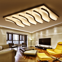 FULOC Acrylic Thick Modern Led Ceiling Lights For Living Bedroom Dining Room Plafonnier Led Telecommande Ceiling