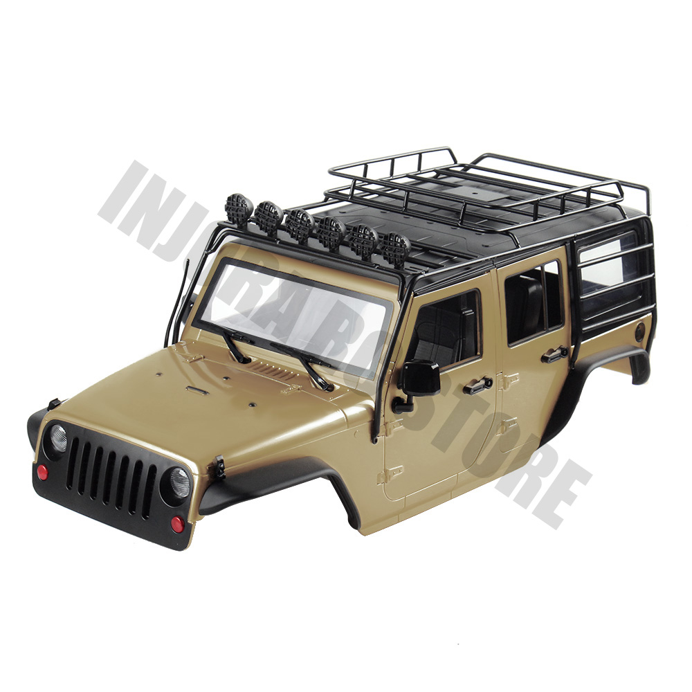 INJORA 7 Color Available 313mm Wheelbase Body Shell+ Roll Cage For 1/10 RC Crawler Jeep Wrangler Axial SCX10 SCX10 II 90046