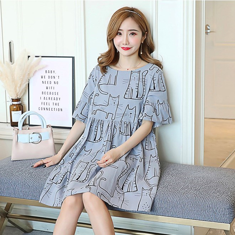 db11f2be1eb Aliexpress.com   Buy New Fashion Maternity Dress Cute Cat Dresses Summer  Wear Premama Dresses for Pregnant Wome Pregnancy Clothing Cotton Maternidad  from ...