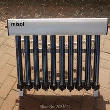 10 эвакуированных труб, солнечный коллектор солнечного нагревателя горячей воды, вакуумные трубки, новые