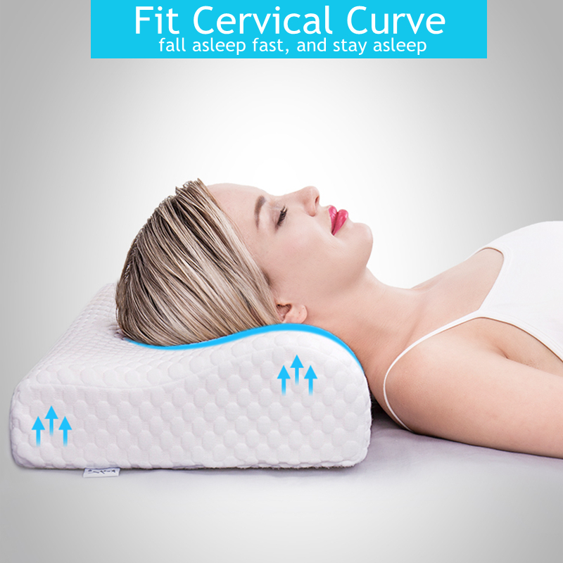 Cervical Pillow For Neck Pain Memory Foam Contour Orthopedic Side