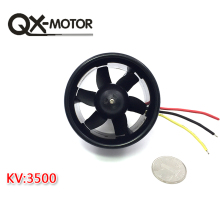 QX-MOTOR Brushless Motor 55mm 6 Blades EDF Ducted Fan with QF2611 3500KV and 30A Esc for RC Drone F22128/F22129