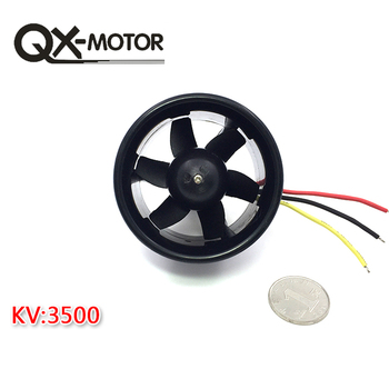 QX-MOTOR Brushless Motor 55mm 6 Blades EDF Ducted Fan with QF2611 3500KV and 30A Esc for RC Drone Ducted F22128/F22129 jmt 6 axis foldable rack rc quadcopter kit with qq super flight control 1000kv brushless motor 10x4 7 propeller 30a esc