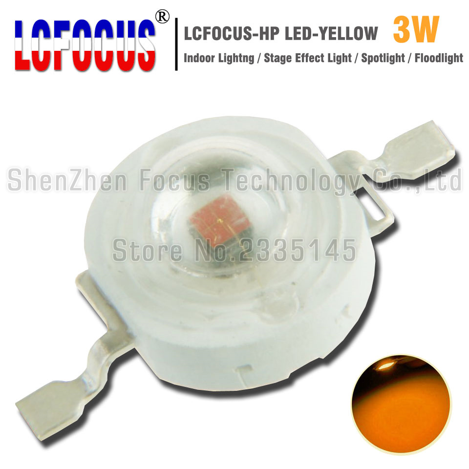 High Power LED Chip 3W Yellow 590-595nm COB DIY Spotlight Stage Floodlight Landscape Lighting For 1W 3W 5W Watt Light Beads