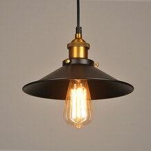 Lámpara colgante de luz industrial retro restaurante casa cocina Lámpara decorativa lámpara colgante vintage lámpara de pantalla D1
