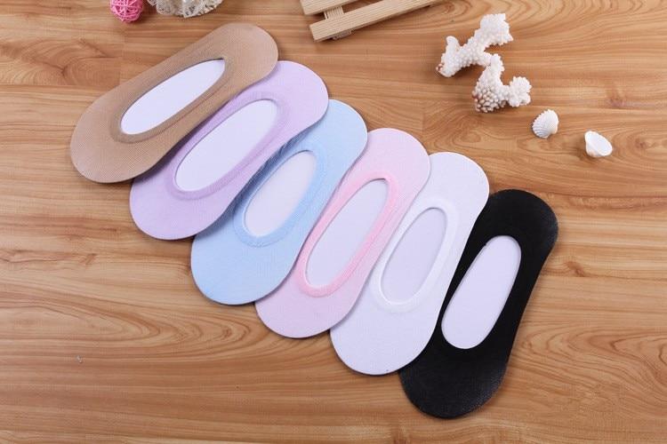 1 Pairs Ladies Women Invisible Footsies Shoe Liner Trainer Ballerina Boat Socks 2019