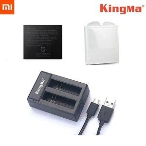 Image 1 - KingMa orijinal çift şarj cihazı piller şarj durumda orijinal Mijia pil için Xiaomi Mijia Mini 4K eylem kamera aksesuarları