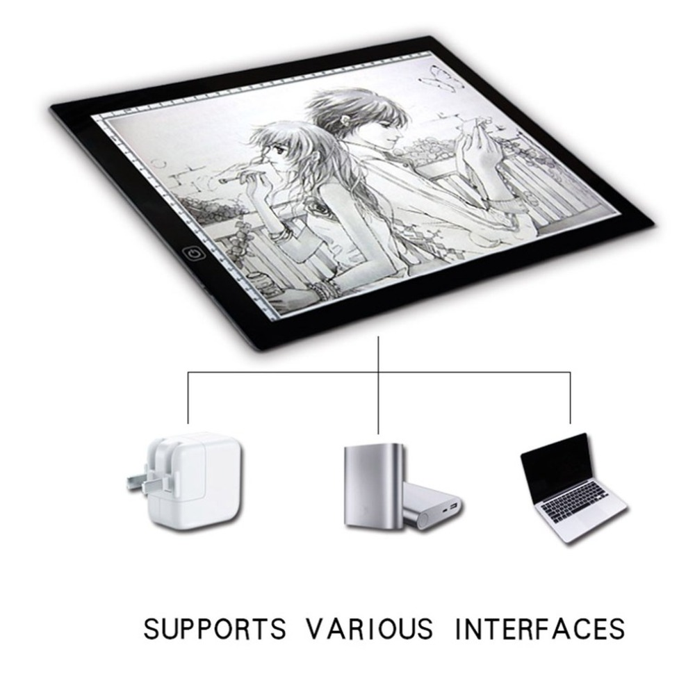 Portable Ultra-thin A3 LED Tracing light Touch Board Artist Drawing Drafting Graphics Tablet Animation Drawing Copy Board