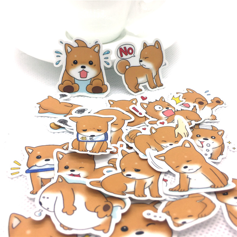 40Pcs Cute Idyllic Dogs Sticker Scrapbooking For Laptop Phone Luggage Skateboad Bicycles Cartoon Fairy Paper Stickers Kawaii