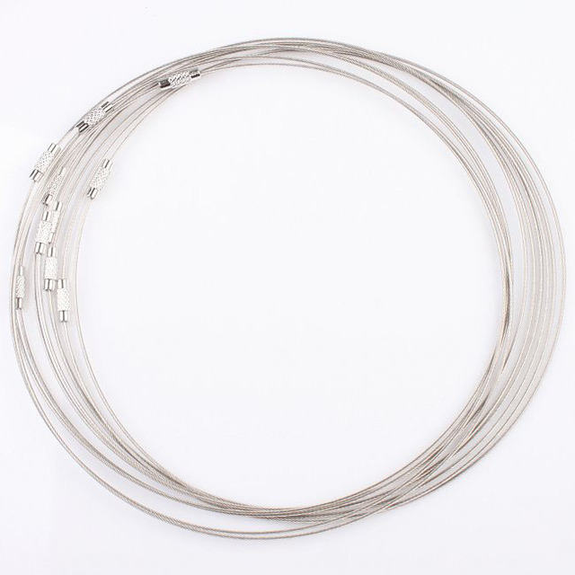 30 pcs / lot DIY Silver Grey Copper Memory Wire Necklace Choker Cords New Wholesale Fashion Necklaces Jewelry Accessories 160193