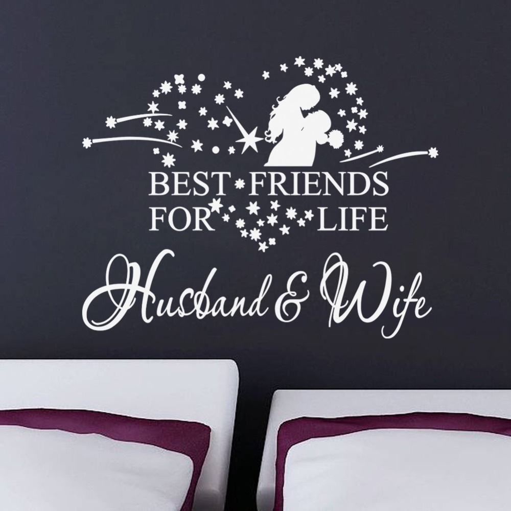 Husbandwife Wall Sticker Quotes Vinyl Wall Decal Home Decor 8385