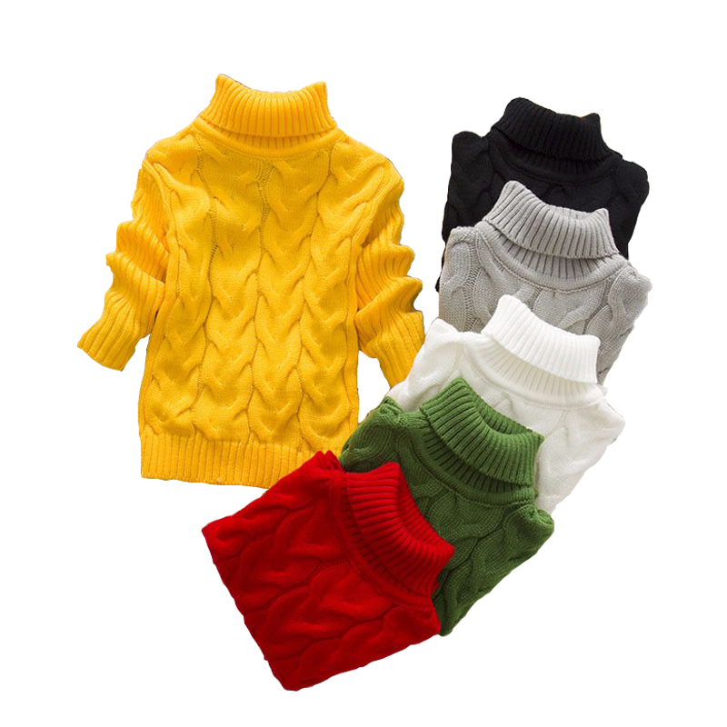 Baby Boys girls Sweaters Children Autumn Winter cotton knitting tops Turtleneck kid pullover worm cardigan 2 3 4 6 8 years autumn winter children turtleneck kids sweaters 10 solid colors girls sweater boys pullover basic shirt 2 10 years