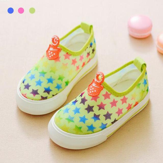 2016 New Summer Casual Shoes Baby kids Network Soft Breathable Shoes Baby Childrens casual Antiskid shoes A2