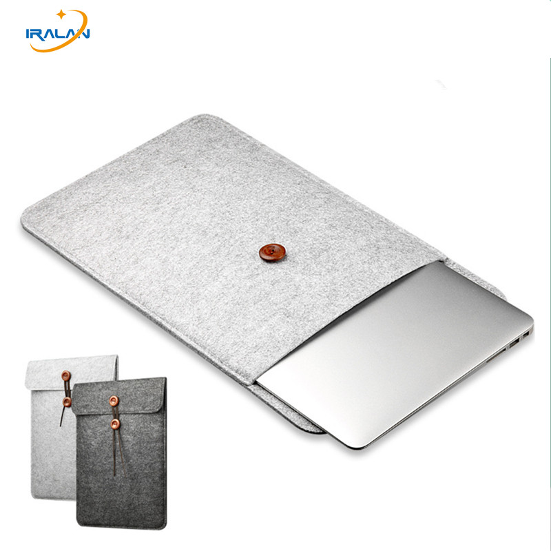 Wool Felt Cover Laptop väska Ärmväska till Apple Macbook Air Pro Retina 11 12 13.3 15.4 Notebook till xiaomi 13 15,6 tums lock