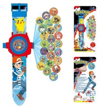New 24 images Pikachu Projection cartoon Electronic watch Children LED Digital Projection Wristwatches For kids Baby gift toys