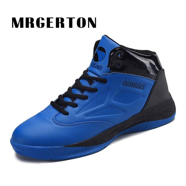 b5098ff37b4 Zapatos de Baloncesto del Mens Zapatillas de Baloncesto Calzado Deportivo  Niños Zapatos Auténticos Botas de Cuero