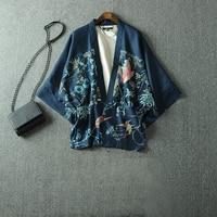 Harajuku Style Japanese Style Haori Printing Short kimono yukata Top Thin wrap summer style