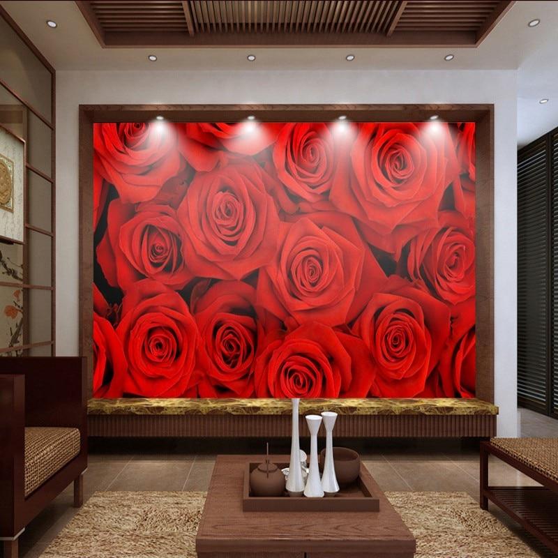 Custom 3d wallpaper 3D stereo beauty Red rose background wall custom lobby wallpaper living room bedroom mural custom mural 3d wallpaper personality world map mural background wall wallpaper stereo bedroom custom mural