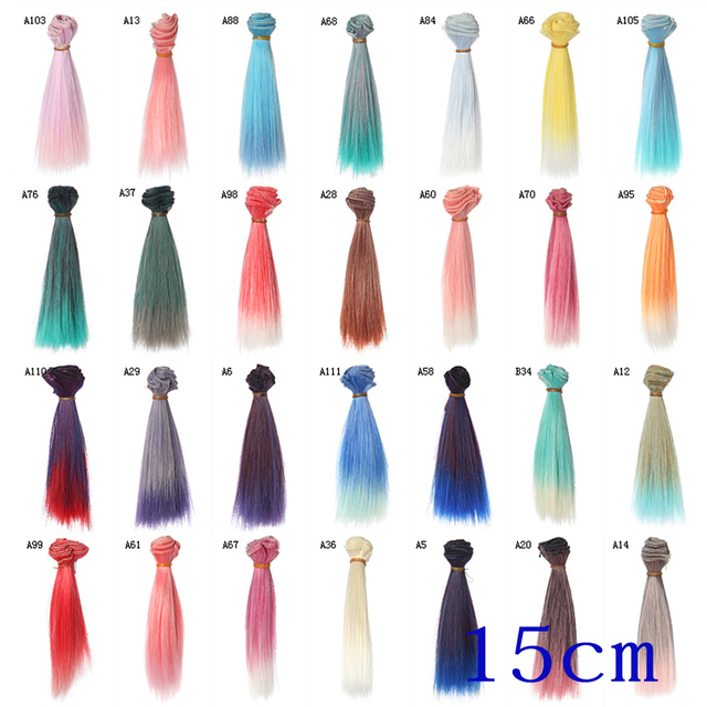 Straight Hair Extensiondiy Hair Wighair Piece For Bjd Dollfie 1pc