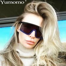 YUMOMO Luxury Brand Designer Oversized Sunglasses Women Ladies Red Fashion Square Driving Shades Eyewear UV400 gafas de sol
