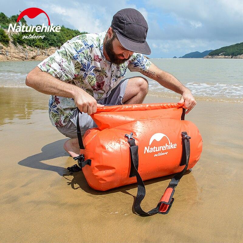 NatureHike saco impermeável saco de camelo mochila para praia rafting natação saco impermeável à deriva 90L para o comprador regular