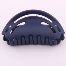 2019 Hot Sale Head Ponytail Holder Solid Rubber Painted Acrylic Hair Claw Hollow Out Crab For Strong Force Bit Clamps