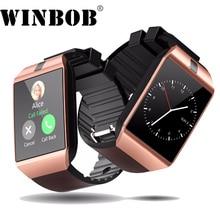 DZ09 WINBOB Bluetooth Inteligente Relógio Relogio Smartwatch Android Phone Call SIM TF Camera para IOS iPhone Samsung HUAWEI VS Y1 q18