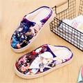 Anime Touken Ranbu Online Warm Soft Shoes Plush Antiskid Home Indoor Slippers