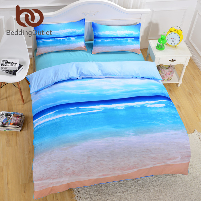 Beddingoutlet Brand New Beach And Ocean Bedding Hot 3d Print Duvet Cover Cheap Vivid Bedclothes
