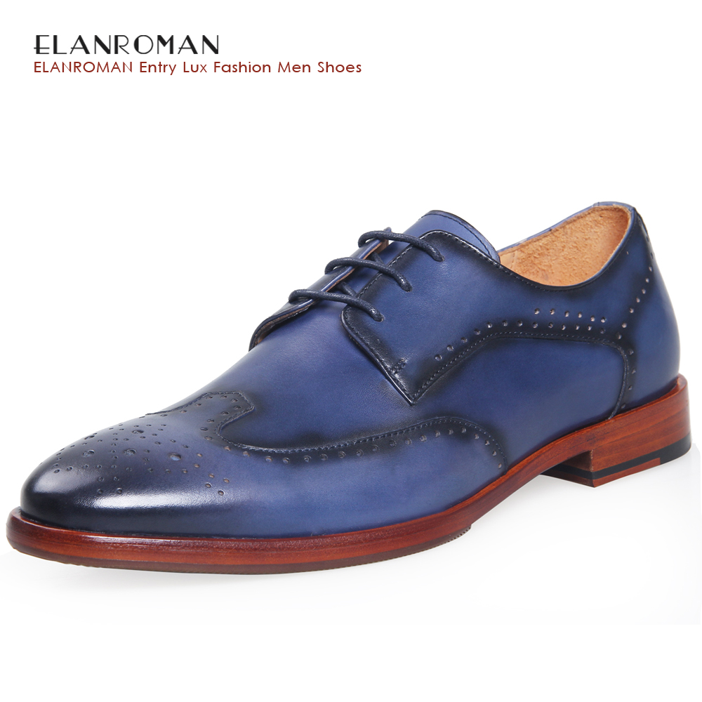 ELANROM Men's Formal Derby Wedding Dress Shoes Cow Genuine Leather Lace-up Round Toe Latex Height Increasing 30mm Solid Summer elanrom summer men formal derby wedding dress shoes cow genuine leather lace up round toe latex height increasing 30mm massage