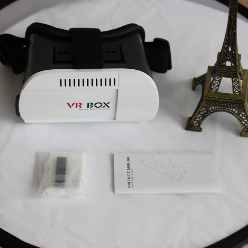 Google cardboard VR BOX 1.0 3D glasses virtual reality+ wireless bluetooth remote controller for 3.5-6.0 inch smart mobile phone