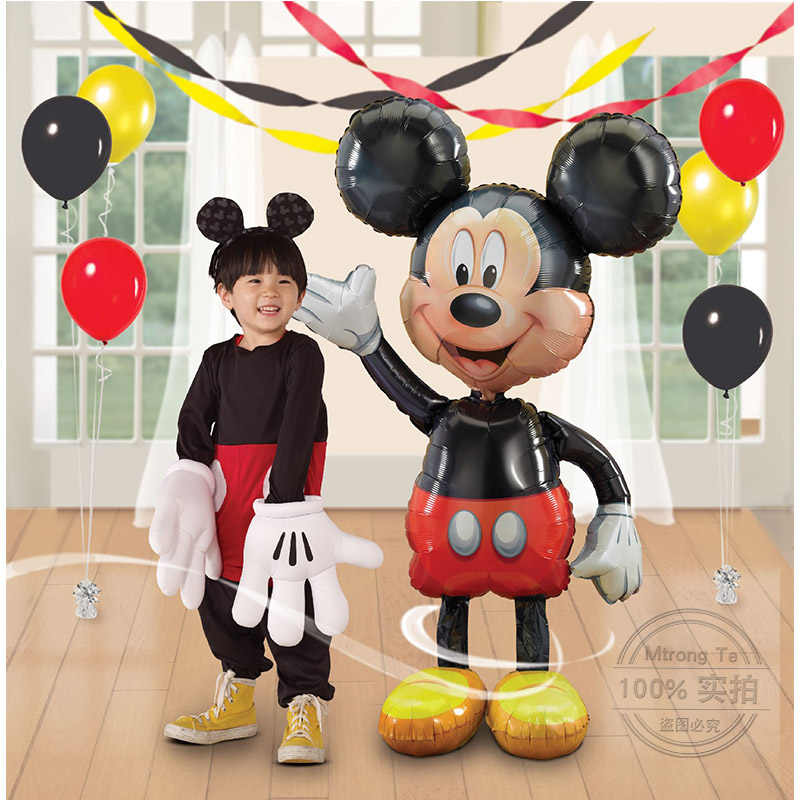 1pcs Large Giant Mickey Mouse Minnie Balloons Birthday Party Decorations Kids Classic Toy Globos Red Bowknot Minnie Mouse Ballon