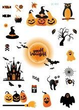 10Pcs Halloween Tattoo Stickers Wacky Cartoon Fun Tattoos For Kid Fake Tatoo Children Body Waterproof Sticker Saints Da