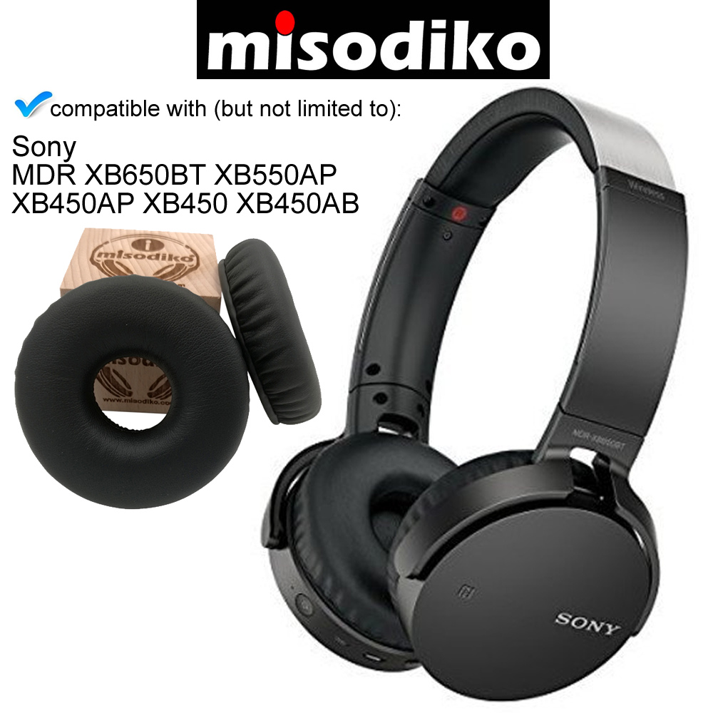 for Sony MDR-10R 10RBT 10RNC Headphones Repair Parts Earpads with Memory Foam misodiko Replacement Ear Pads Cushion Kit