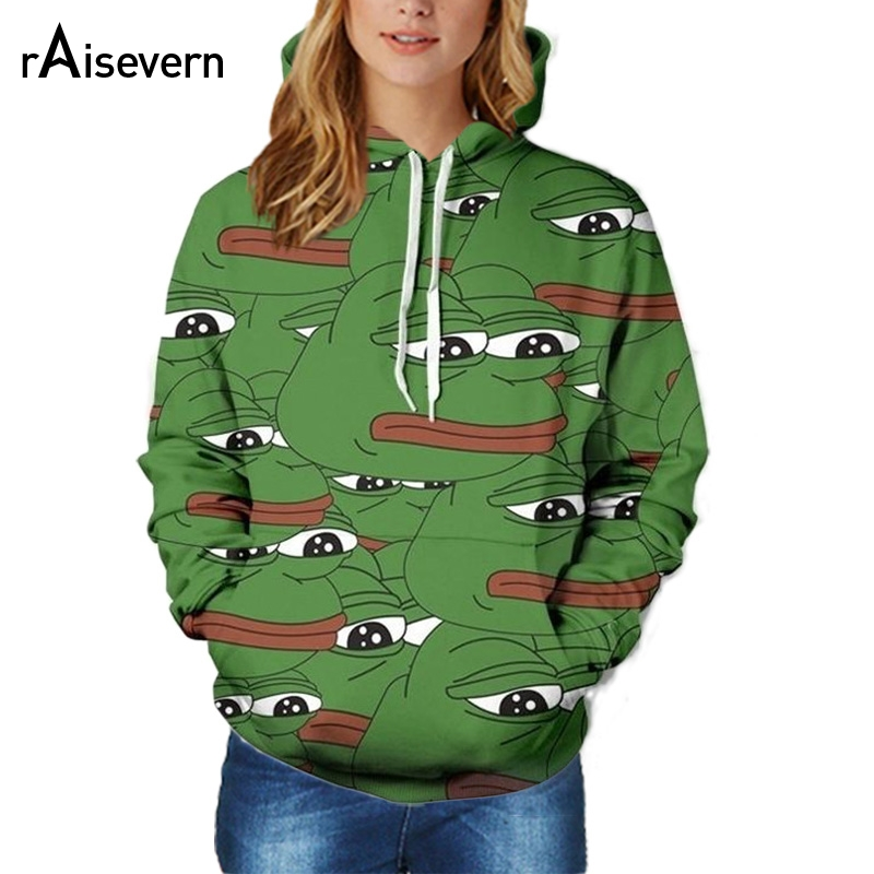Raisevern Fashion Men/Women 3D Sweatshirts Print Sad Pepe Hooded Hoodies Thin Unisex Pullovers Tops Dropship