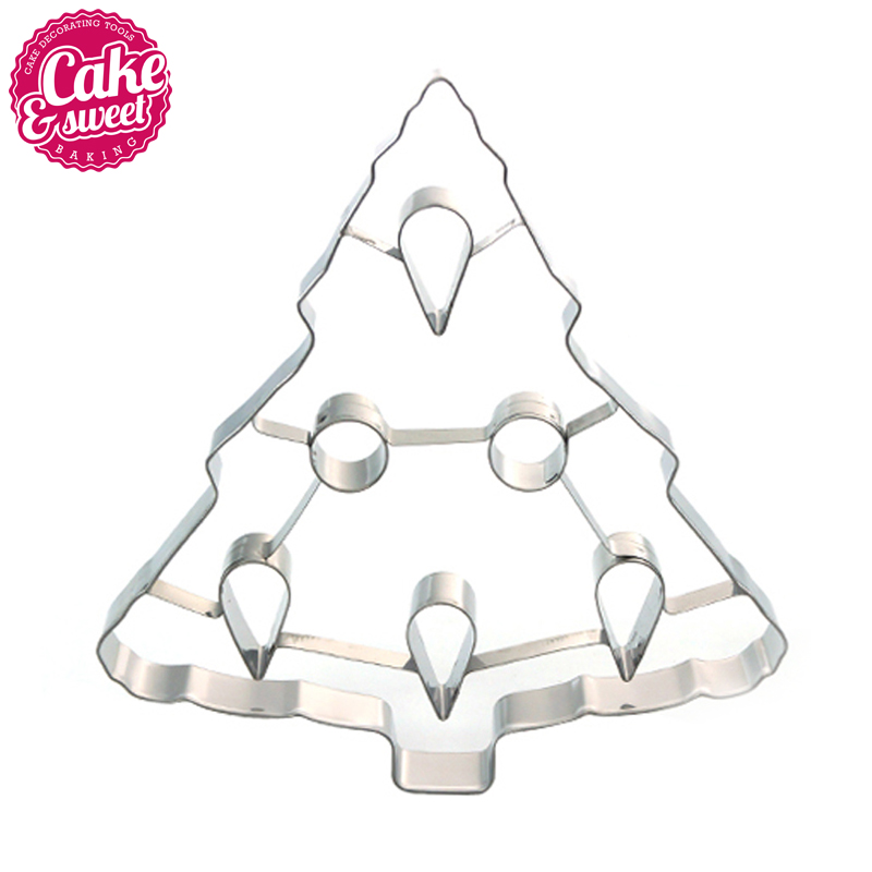 christmas tree cookie cutter stainless steel fondant biscuit pastry baking mold diy cake tools kitchen accessories 1pcs in cake molds from home garden on