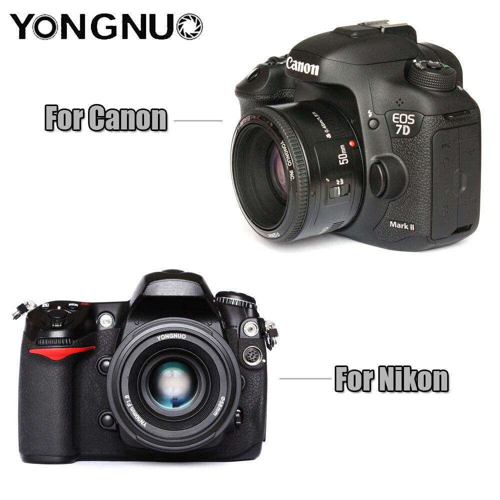 Objectif YONGNUO YN50mm F1.8 objectif de caméra reflex numérique YONGNUO à grande ouverture pour canon pour Nikon D800 D300 D700 D3200 D3300 D5100 - 4