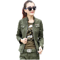 Military Camouflage Clothing Female Zip Long Sleeved Army Green Bomber Jackets Plus Size 5Xl 6XL Casual Outerwear Coat For Women