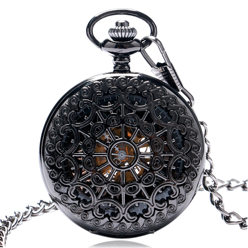 Image 3 - Hollow Semi Automatic Mechanical Pocket Watch Gift Sets for Men Women Necklace Pendant Clock Birthday Presents P825WBWBmechanical pocket watchpocket watchpocket watch set -